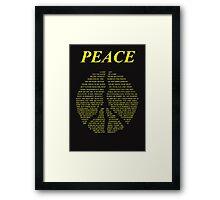 Peace - Happy People Lyrics Framed Print