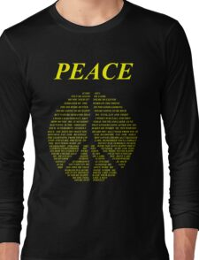 Peace - Happy People Lyrics Long Sleeve T-Shirt