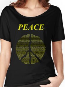 Peace - Happy People Lyrics Women's Relaxed Fit T-Shirt
