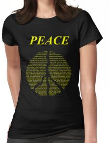 Peace - Happy People Lyrics Womens Fitted T-Shirt