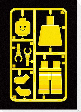 Lego Man On Plastic Sprue by electricFIELD
