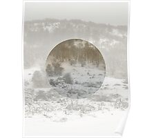 Snowing Forest Poster