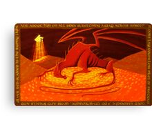 Smaug - My Armour is Like Ten Thousand Shields Canvas Print