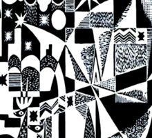 Black & white dada retro Sticker