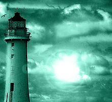 Lighthouse Collaboration in Turquoise by DavidWHughes