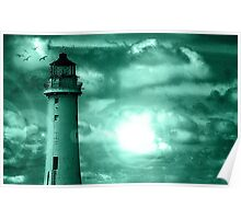Lighthouse Collaboration in Turquoise Poster