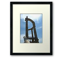 Beautiful arch on a background of the blue sky Framed Print
