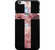 CROSS W/ FLOWERS iPhone Case/Skin