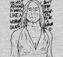 "Iggy Pop quote ""I'm Not Ashamed To Dress Like A Woman Because I Don't Think It's Shameful To Be A Woman"" Unisex T-Shirt"