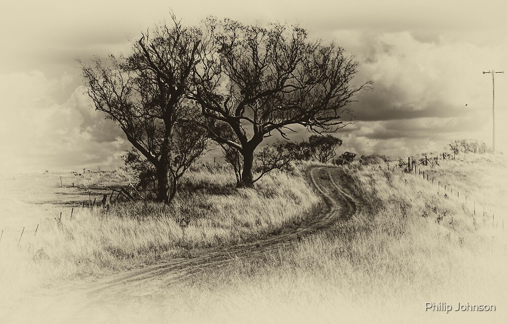 The Journey (Sepia) - Cootamundra,NSW - The HDR Experience by Philip Johnson