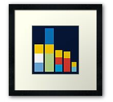 Simpsons on the Block Framed Print