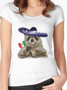 Mexican Raccoon Women's Fitted Scoop T-Shirt