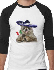 Mexican Raccoon Men's Baseball ¾ T-Shirt