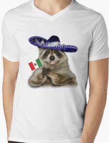 Mexican Raccoon Mens V-Neck T-Shirt