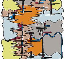 Dissolve Abstract 3 by Sarah Mattock