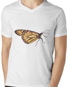 Monarch Butterfly Print Mens V-Neck T-Shirt