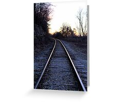 Railway to Sunsets Greeting Card