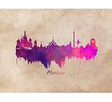 Moscow skyline city Photographic Print