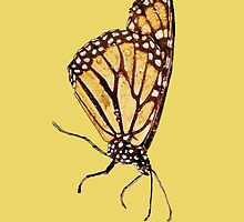 Monarch Butterfly Print On Gold by DreamByDay