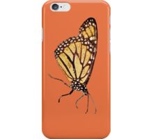 Monarch Butterfly Print on Orange/Red iPhone Case/Skin