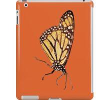 Monarch Butterfly Print On Dark Orange iPad Case/Skin
