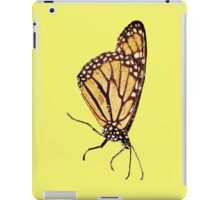 Monarch Butterfly Print On Yellow iPad Case/Skin