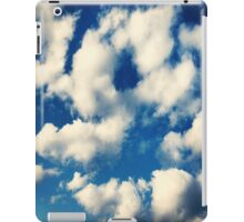 Fluffy Clouds In Blue Sky Print iPad Case/Skin
