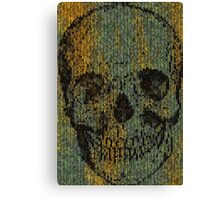 knitted skull Canvas Print