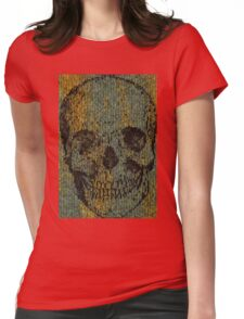 knitted skull Womens Fitted T-Shirt