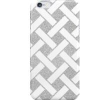 Silver glitter stripped pattern iPhone Case/Skin
