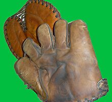 Two Vintage Baseball Mitts by Kathleen Brant