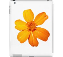 Orange Yellow Flower Print On White iPad Case/Skin