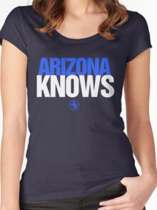 Discreetly Greek - Arizona Knows - Nike parody Women's Fitted Scoop T-Shirt