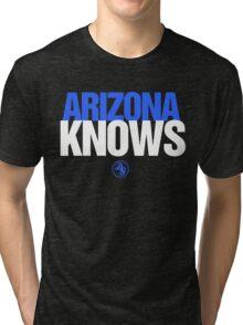 Discreetly Greek - Arizona Knows - Nike parody Tri-blend T-Shirt