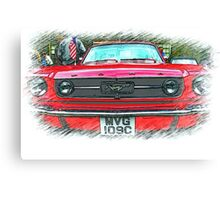 Yes Sally ..it's a Mustang! Canvas Print