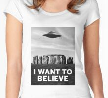 Want2believe (Stonehenge) Women's Fitted Scoop T-Shirt
