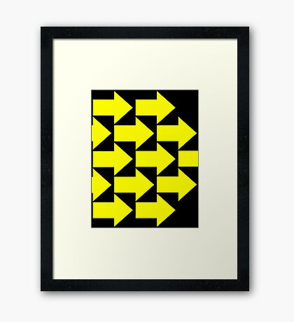 Yellow Arrows  Framed Print