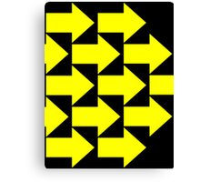 Yellow Arrows  Canvas Print