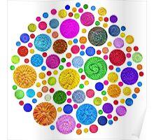 #DeepDream Color Circles Visual Areas 4x4K v1448872458 Poster