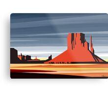 Arizona Desert Landscape Sunset Illustration Metal Print