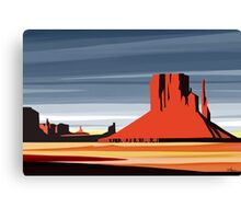 Arizona Desert Landscape Sunset Illustration Canvas Print