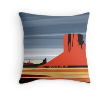 Arizona Desert Landscape Sunset Illustration Throw Pillow