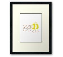 221Bee Framed Print
