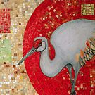 Red Curve, Quadrilaterals and Crane by Lynnette Shelley