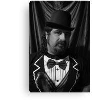 Sharp dressed self portrait Canvas Print