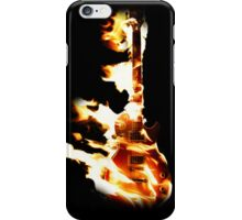 Flaming Guitar iPhone Case/Skin