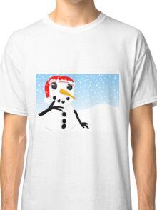 Thoughtful Snowman Classic T-Shirt