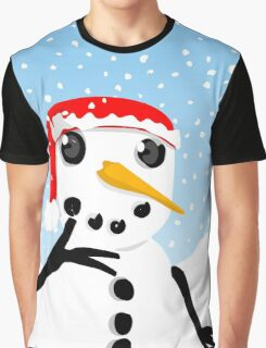 Thoughtful Snowman Graphic T-Shirt