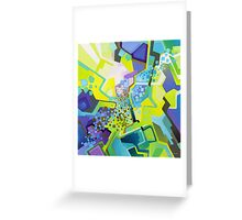 Residual Glow, Intermittent Noise - Abstract Acrylic Canvas Painting Greeting Card