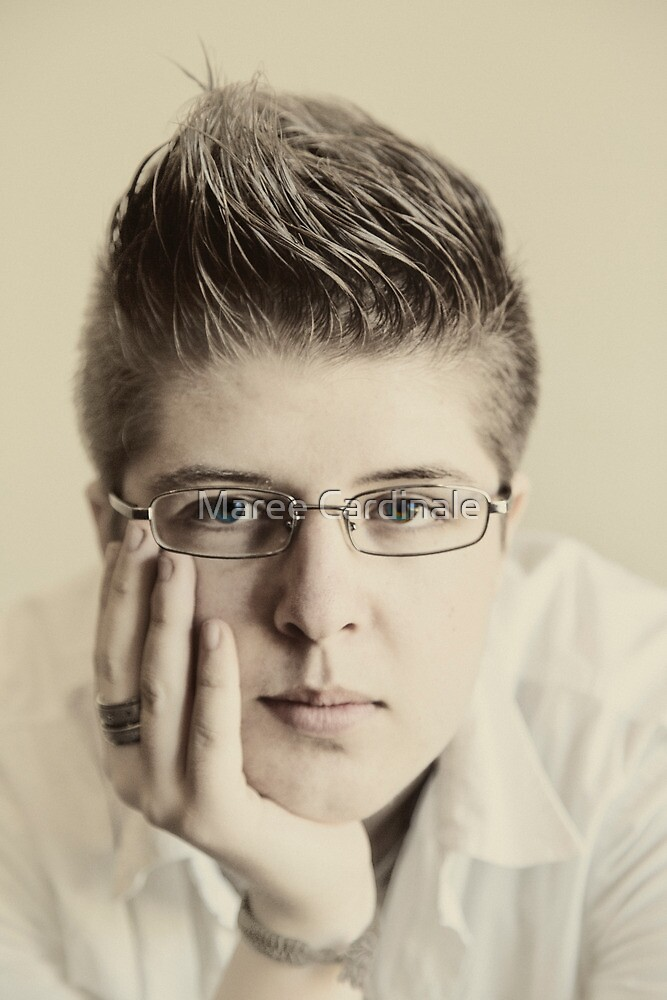 Portrait of a youth on the cusp of manhood by Maree Cardinale